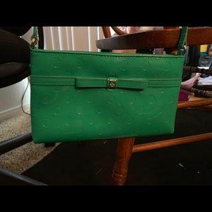 Teal Kate Spade crossbody bag